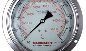 MPG-100P Panel Mounted Pressure Gauge